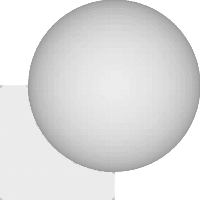 A Rounded Union of a Cube and a Sphere